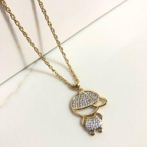 18k Gold Filled CZ Necklace